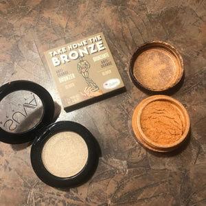 Suva Eyeshadow,  BALM Bronzer,  Shimmer Eyeshadow